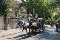 敞蓬旅游车在王子岛Buyukada 库存照片