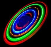 散发光的五颜六色的二极管做模式 图库摄影