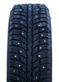 散布的冬天轮胎 库存照片