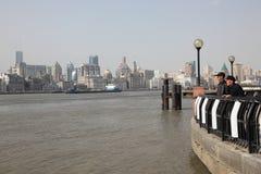 散步在上海,中国 库存照片