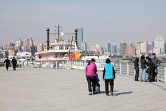 散步在上海,中国 免版税库存图片