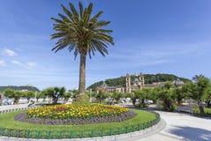 散步在圣塞瓦斯蒂安,西班牙 免版税库存照片
