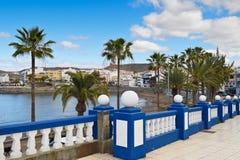 散步在Playa de ArguineguAnn 库存图片