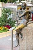 散步的雕塑艺术大师 Gelendzhik 库存图片