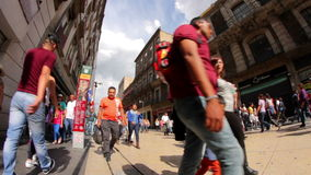 散步街市,在Madero街的人们 影视素材