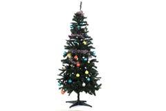散漫的丑恶的圣诞树 图库摄影