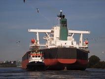 散装货轮 免版税库存照片
