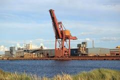 敦刻尔克港口,矿物BasinBassin MinéralierFRANCE 8月15,2017 库存图片
