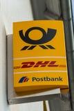 敦豪航空货运公司商标 免版税库存照片