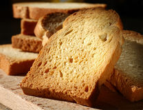 敬酒的白面包 免版税库存照片