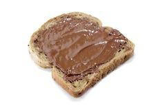 敬酒的面包用巧克力 免版税图库摄影