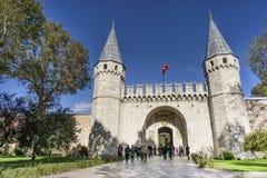 致敬门, Topkapi宫殿,伊斯坦布尔,土耳其 库存图片