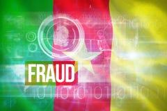 数位引起的喀麦隆国旗的综合3d图象 库存照片