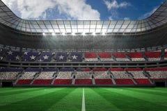 数位引起的美国国旗的综合图象 免版税库存照片