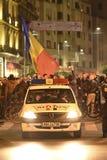 数千抗议者在布加勒斯特 库存图片
