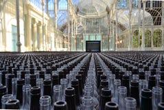 数千玻璃瓶 库存照片