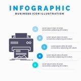 数字、打印机、打印、硬件、纸Infographics模板网站的和介绍 r 向量例证