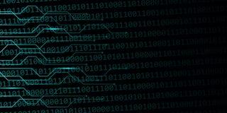 数字与二进制编码的网背景 皇族释放例证