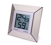 数字体温计和湿气米 库存图片