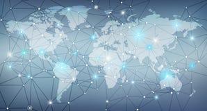 数字化/全球网络/Blockchain构思设计 免版税库存照片