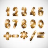 数字和算术标志的概念 库存照片