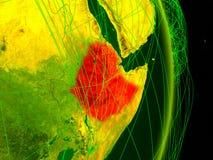 数字地球上的埃塞俄比亚 皇族释放例证