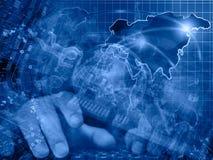 数字地球供以人员 免版税库存图片