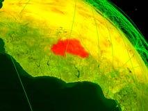 数字地球的布基纳法索 向量例证