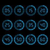 数字式与五分钟间隔时间的读秒定时器 免版税库存照片