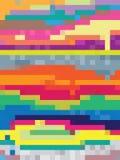 数字式与五颜六色的正方形的流行艺术 免版税图库摄影