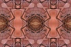 数字式与红色橙色和棕色金银细丝工的样式的艺术设计 免版税库存照片