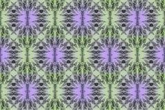 数字式与绿色和淡紫色金银细丝工的样式的艺术设计 库存照片