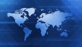数字式世界地图 库存照片