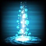 数字式事务、传染媒介技术圈子和技术背景 免版税库存图片