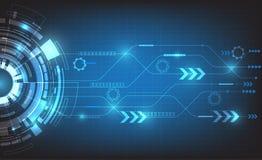 数字式事务、传染媒介技术圈子和技术背景 免版税库存照片