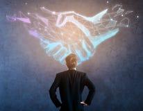 数字式事务和合作概念 免版税库存照片