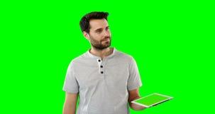 数字式人片剂使用 影视素材