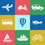 数字式传染媒介红色青绿的旅行 向量例证
