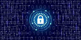 数字式保护和安全 免版税库存照片