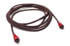 数字式光学音频toslink缆绳 库存图片