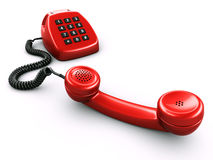 数字式减速火箭numpad老的电话 皇族释放例证