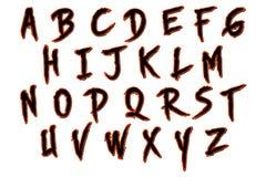 数字式剪贴薄字母表万圣夜斯金纳 免版税图库摄影