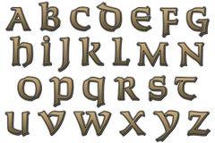 数字式剪贴薄字母表圣徒 库存照片