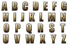 数字式剪贴薄字母表帝国大门罩 免版税库存图片