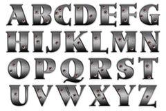 数字式剪贴薄字母表浅顶软呢帽匪盗 库存图片