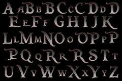 数字式剪贴薄字母表海盗反叛 图库摄影