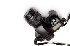 数字式单一透镜反光照相机,隔绝在白色背景 免版税图库摄影