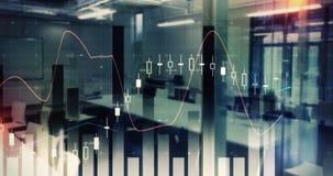 数字式各种各样的财政图4k引起的录影  股票录像