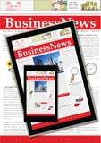 数字式商业新闻 免版税库存图片
