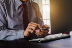 数字式在虚屏的营销媒介 事务 免版税图库摄影